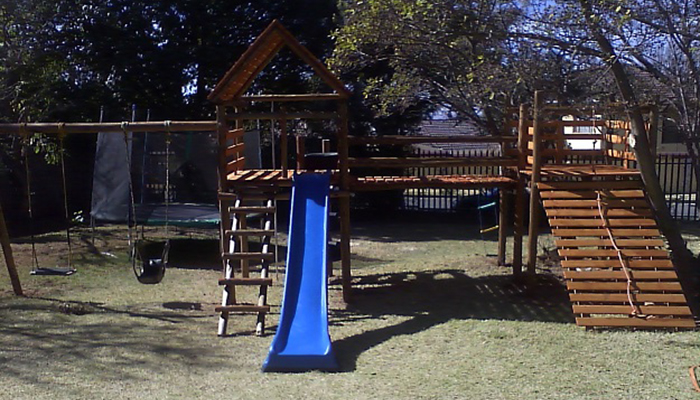 Wooden jungle gym gyms