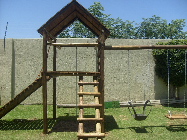 Large Wooden Jungle Gyms